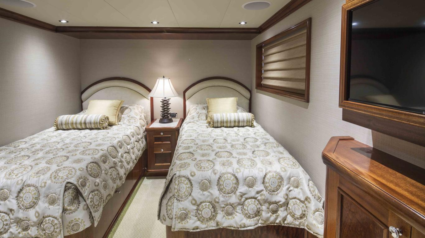 Twin Guest Stateroom, 2013 150' Richmond Tri-Deck Motor Yacht, STATUS QUO