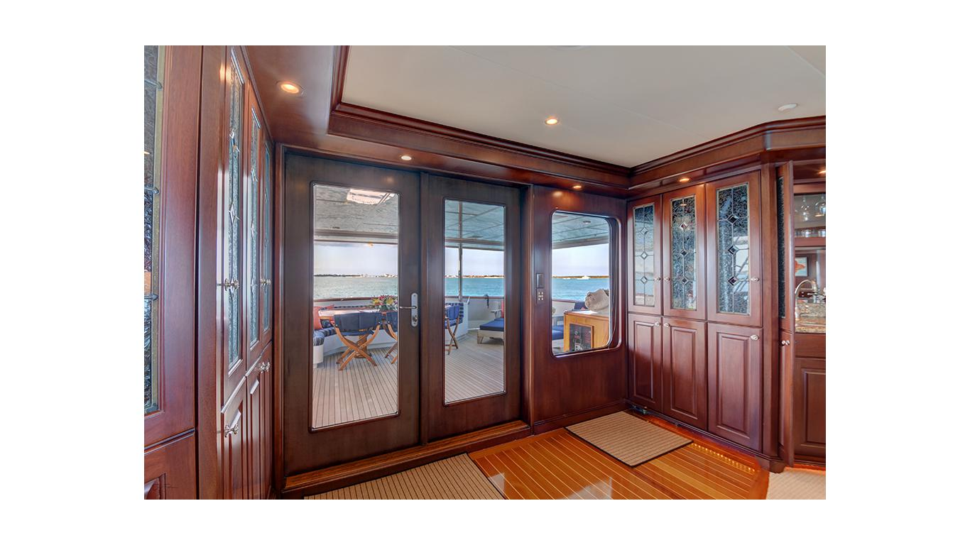 Aft deck entrance to Main salon